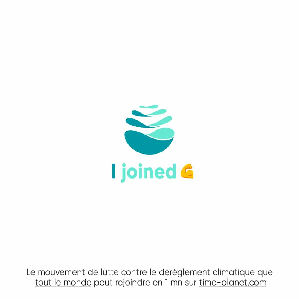 ENGAGÉE AVEC TIME FOR THE PLANET